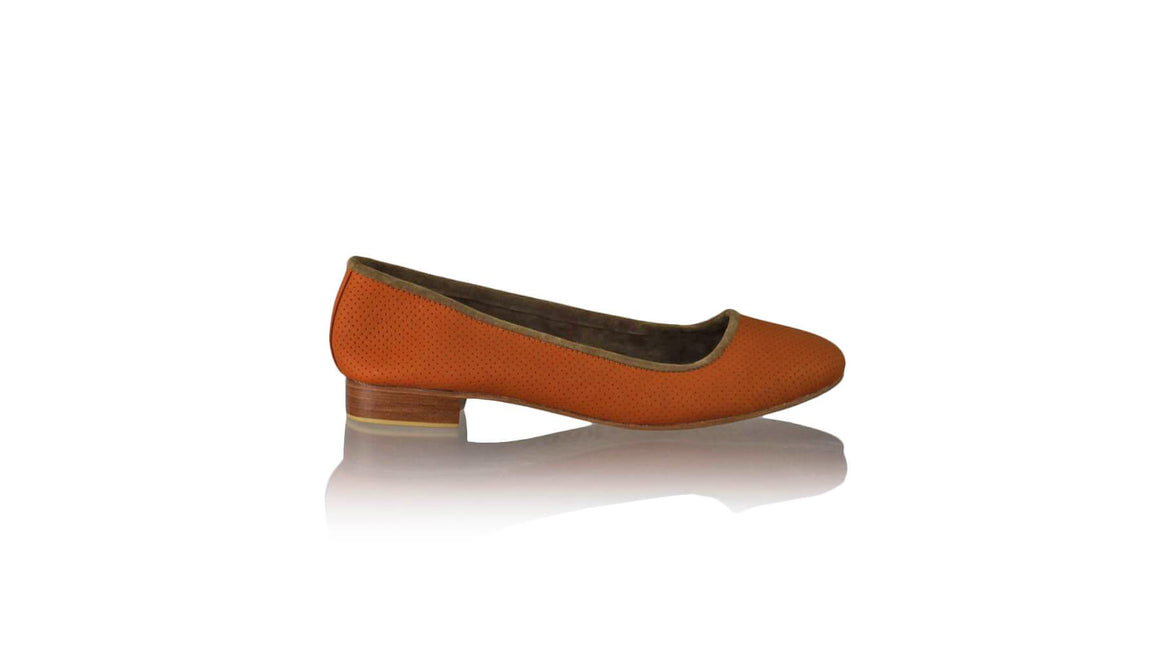 Leather-shoes-Kate 20mm Ballet - Orange Net-flats ballet-NILUH DJELANTIK-NILUH DJELANTIK