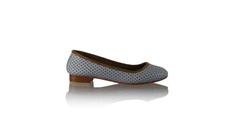 Leather-shoes-Kate Ballet 20mm - Grey Net-flats ballet-NILUH DJELANTIK-NILUH DJELANTIK