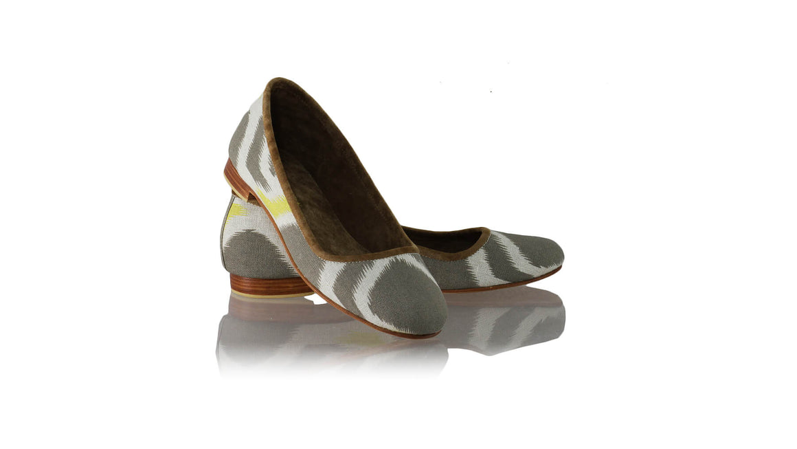 Leather-shoes-Kate Ballet 20mm - Sumba Grey & Yellow Linen-flats ballet-NILUH DJELANTIK-NILUH DJELANTIK