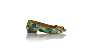 Leather-shoes-Kate Peeptoe Ballet 20mm - Multicolor Forest-flats ballet-NILUH DJELANTIK-NILUH DJELANTIK