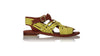 leather shoes Kumala 20mm Flats - Burnt Orange & Yellow Lime, sandals flat , NILUH DJELANTIK - 1