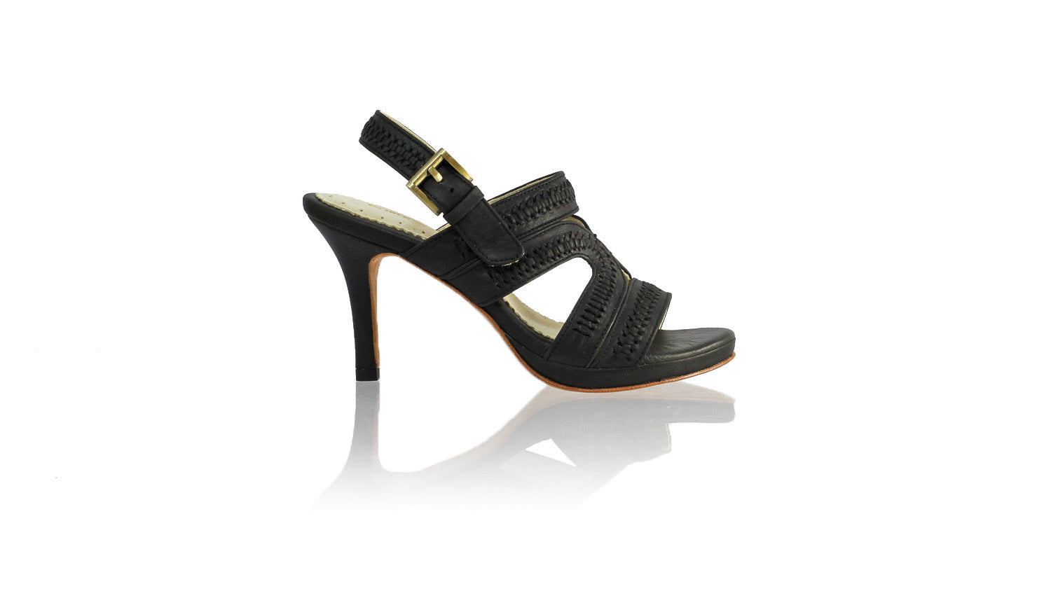 Leather-shoes-Lilies 90mm SH-01 PF - Black-sandals higheel-NILUH DJELANTIK-NILUH DJELANTIK