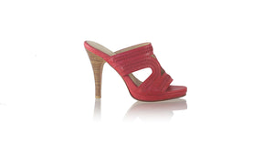 leather shoes Lilies PF without Strap 115mm SH - Red, sandals higheel , NILUH DJELANTIK - 1