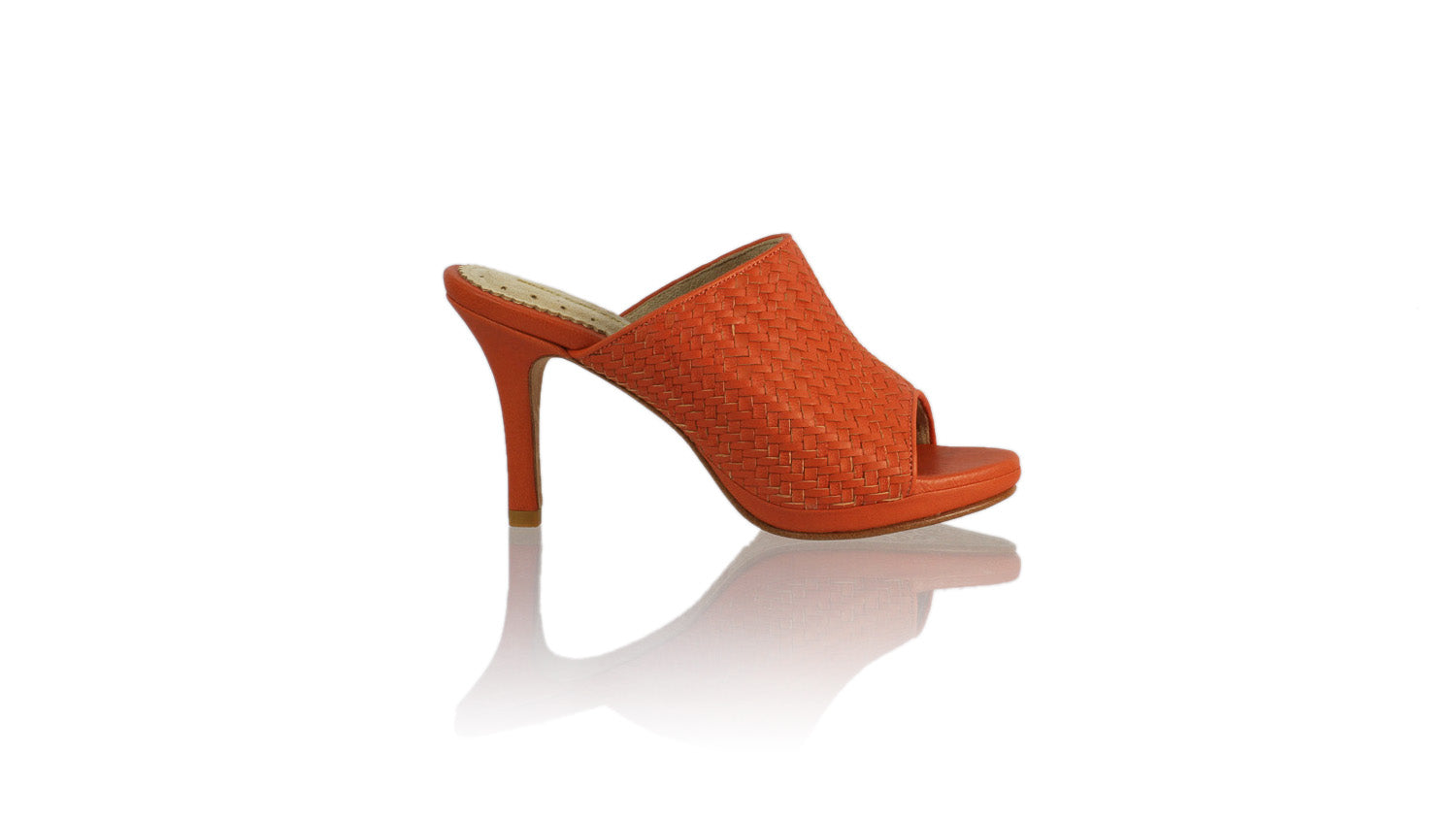 Leather-shoes-Lina Woven without Strap 90mm SH-01 PF - Orange-sandals higheel-NILUH DJELANTIK-NILUH DJELANTIK