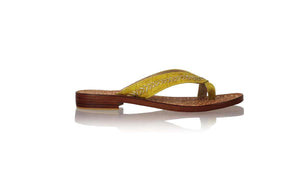 Leather-shoes-Louis 20mm Flats - Yellow Croco & Gold-sandals flat-NILUH DJELANTIK-NILUH DJELANTIK
