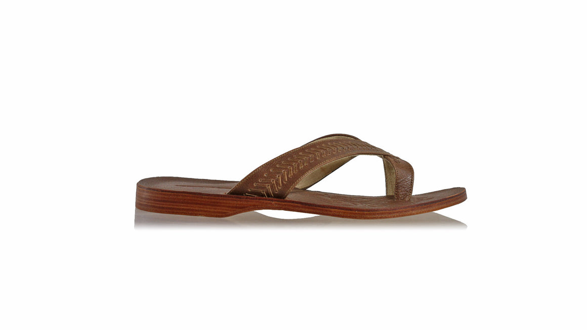 leather shoes Louis 25 mm Flats - Dark Brown (MEN), sandals flat , NILUH DJELANTIK - 1