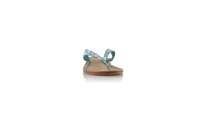 Leather-shoes-Luca 20mm Flat - Emerald Polkadot-sandals flat-NILUH DJELANTIK-NILUH DJELANTIK