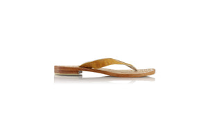 leather shoes Luca 20mm Flats - Camel Croco Embossed, sandals flat , NILUH DJELANTIK - 1