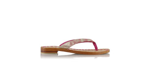 leather shoes Luca 20mm Flats - Pink With Gold Glitter, sandals flat , NILUH DJELANTIK - 1
