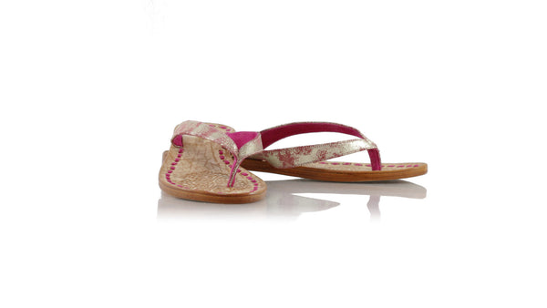 Leather-shoes-Luca 20mm Flat - Pink With Gold Glitter-sandals flat-NILUH DJELANTIK-NILUH DJELANTIK