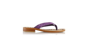 Leather-shoes-Luca 20mm Flats - Purple Pulkadot-sandals flat-NILUH DJELANTIK-NILUH DJELANTIK