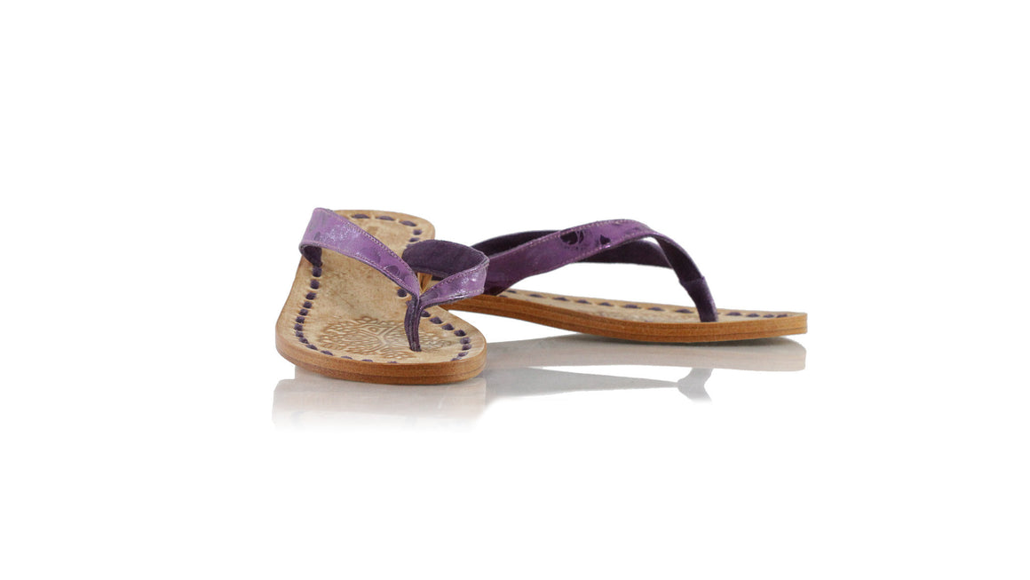 leather shoes Luca 20mm Flats - Purple Pulkadot, sandals flat , NILUH DJELANTIK - 1