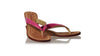 leather shoes Luca 35mm Wedges - Pink Snake Print, sandals wedges , NILUH DJELANTIK - 5