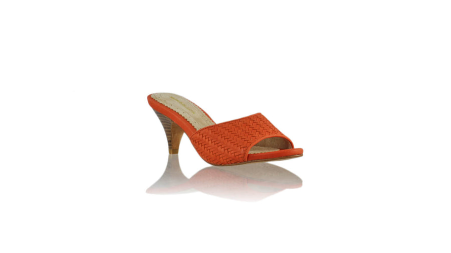 Leather-shoes-Mama 70mm SH - Orange-sandals midheel-NILUH DJELANTIK-NILUH DJELANTIK