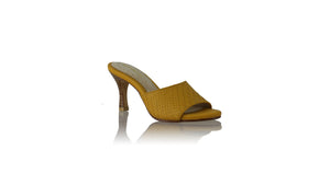 Leather-shoes-Mama 70mm SH - Yellow-sandals midheel-NILUH DJELANTIK-NILUH DJELANTIK