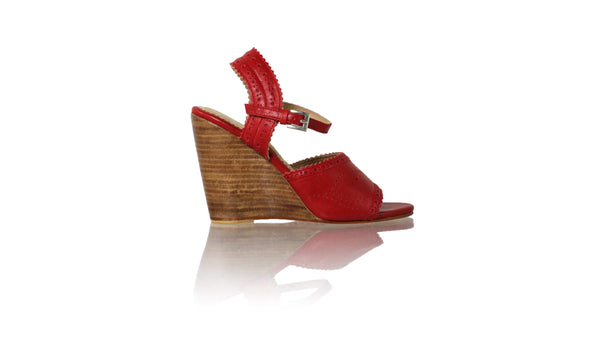 Leather-shoes-Manik 110mm Wedge - Red-sandals wedges-NILUH DJELANTIK-NILUH DJELANTIK