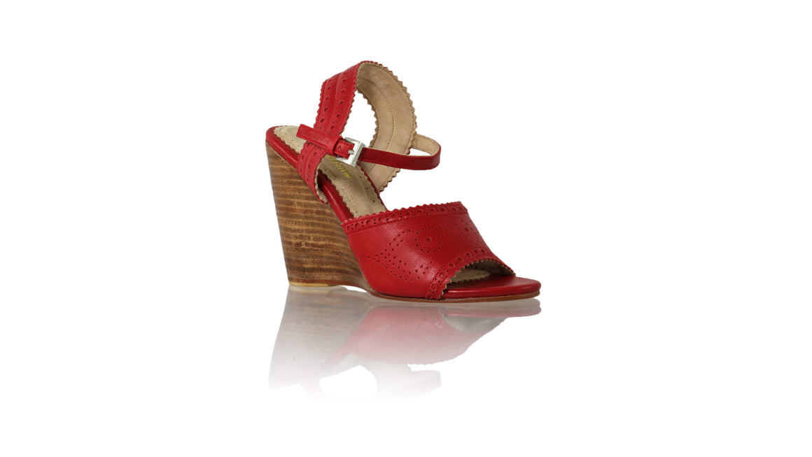 Leather-shoes-Manik 110mm Wedges - Red-sandals wedges-NILUH DJELANTIK-NILUH DJELANTIK
