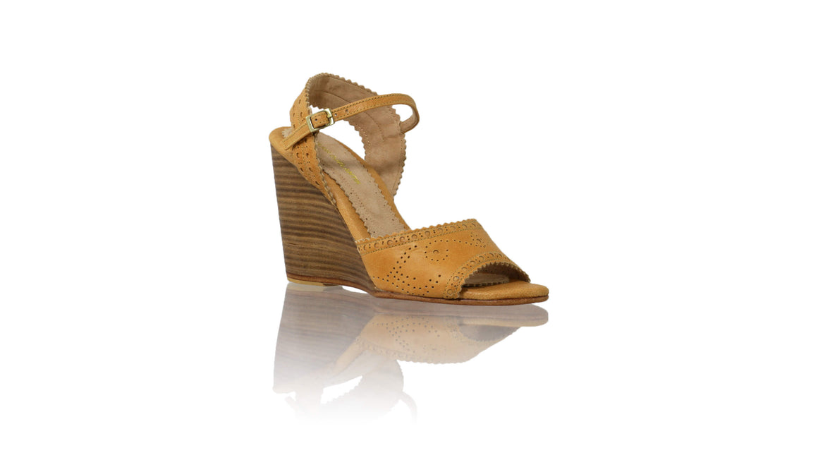 Leather-shoes-Manik 110mm Wedges - Tan-sandals wedges-NILUH DJELANTIK-NILUH DJELANTIK