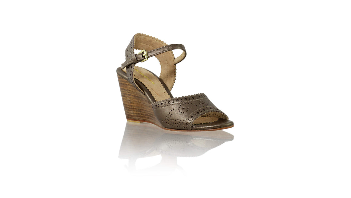 Leather-shoes-Manik 80mm Wedges - Bronze-sandals wedges-NILUH DJELANTIK-NILUH DJELANTIK