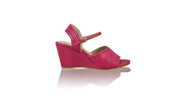 Leather-shoes-Manik 80mm Wedge-01 - Fuschia-sandals wedges-NILUH DJELANTIK-NILUH DJELANTIK