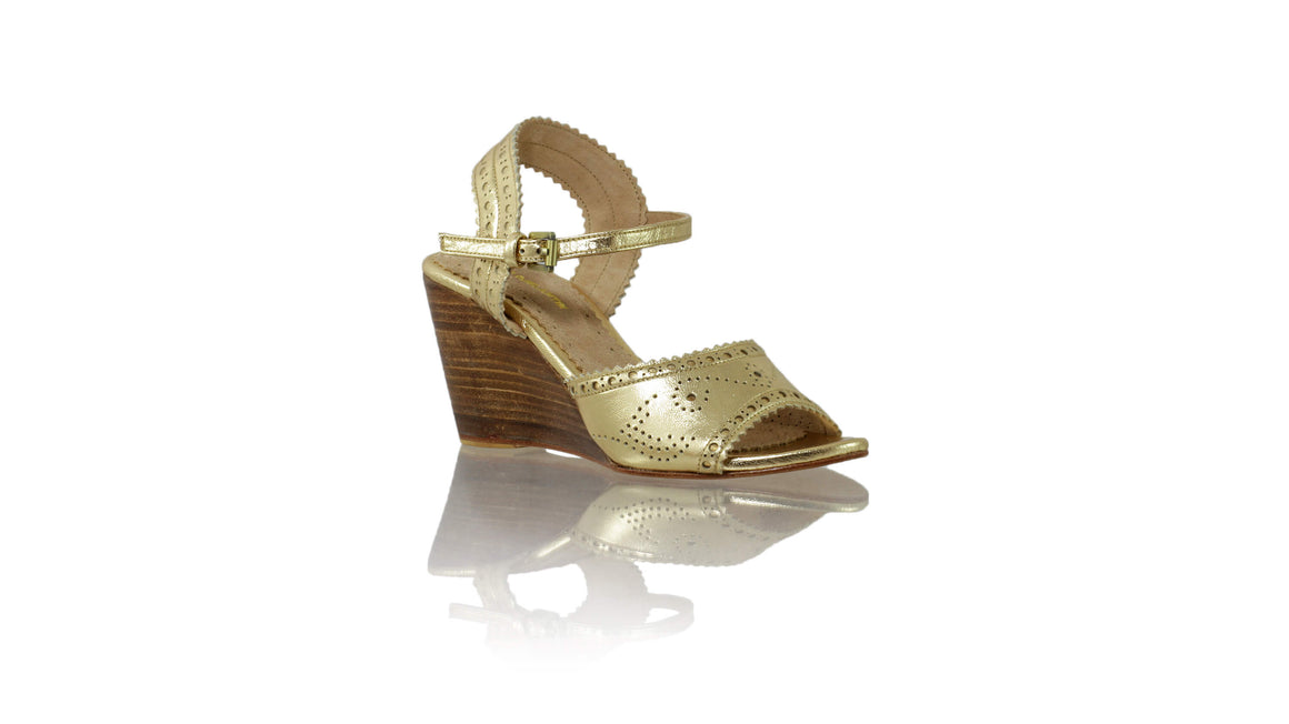 Leather-shoes-Manik 80mm Wedges - Gold-sandals wedges-NILUH DJELANTIK-NILUH DJELANTIK
