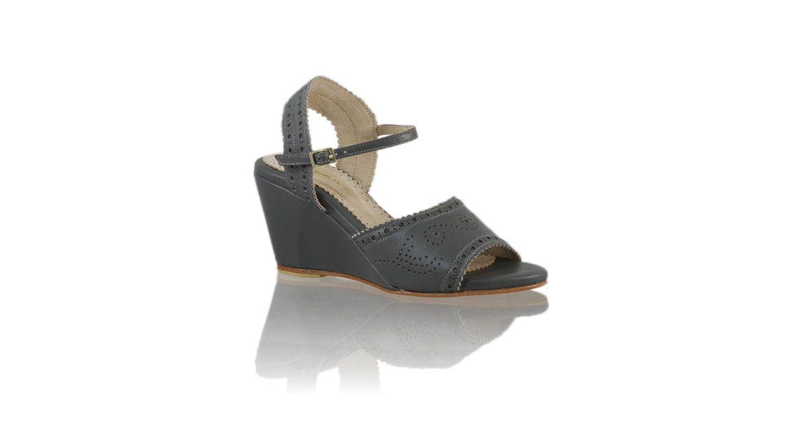 Leather-shoes-Manik 80mm Wedges-01 - Dark Grey-sandals wedges-NILUH DJELANTIK-NILUH DJELANTIK