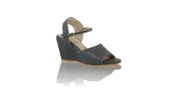 Leather-shoes-Manik 80mm Wedge-01 - Dark Grey-sandals wedges-NILUH DJELANTIK-NILUH DJELANTIK
