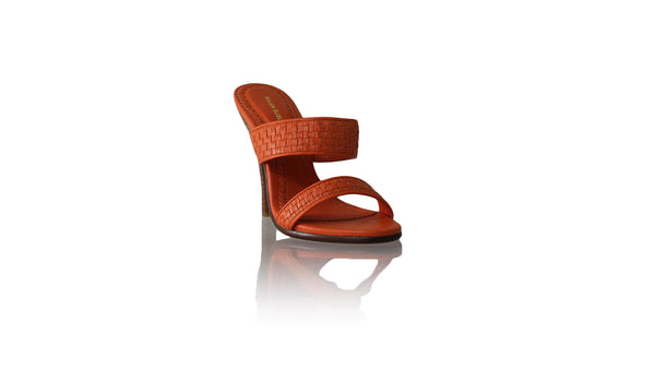 Leather-shoes-Maria 115mm SH - Orange-sandals higheel-NILUH DJELANTIK-NILUH DJELANTIK