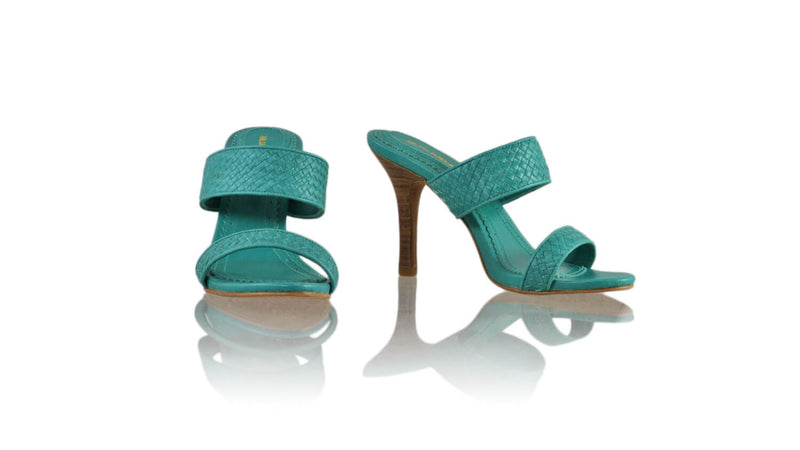 Leather-shoes-Maria 90mm SH - Emerald-sandals higheel-NILUH DJELANTIK-NILUH DJELANTIK