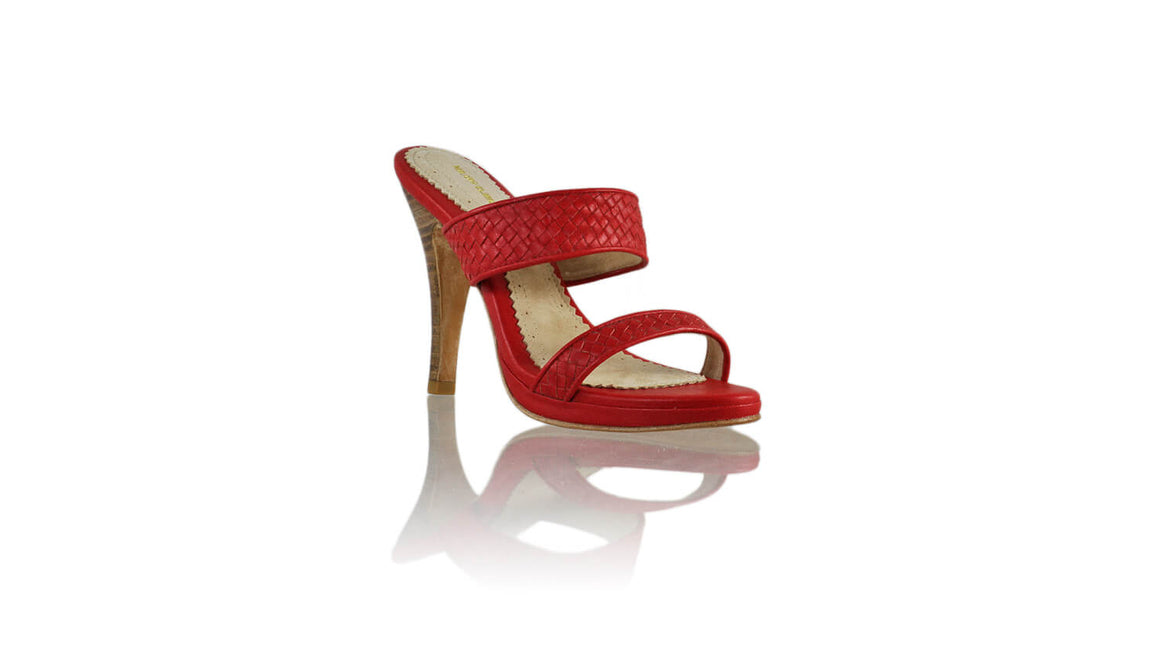 Leather-shoes-Maria PF 115mm SH - Red-sandals higheel-NILUH DJELANTIK-NILUH DJELANTIK