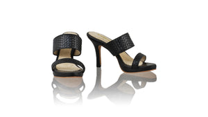 Leather-shoes-Maria 90MM SH-01 PF - Black-sandals higheel-NILUH DJELANTIK-NILUH DJELANTIK