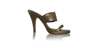 leather shoes Marita PF 115mm SH - Bronze, sandals higheel , NILUH DJELANTIK - 1