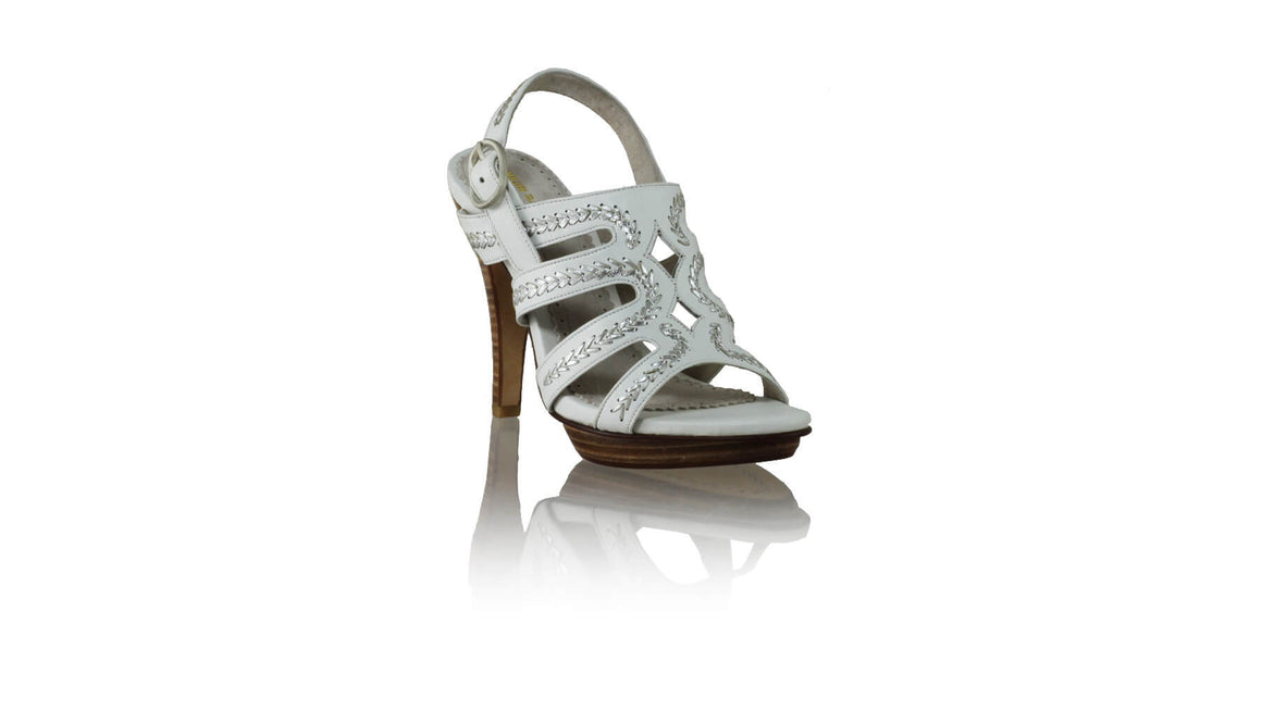 Leather-shoes-Maya PF 115mm SH - White & Silver-sandals higheel-NILUH DJELANTIK-NILUH DJELANTIK