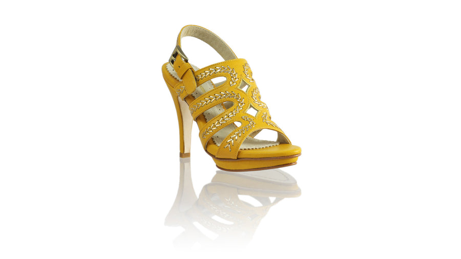 Leather-shoes-Maya 115mm SH-01 PF - Yellow & Gold-sandals higheel-NILUH DJELANTIK-NILUH DJELANTIK