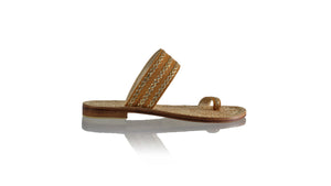 Leather-shoes-Merauke 20mm Flat - Camel & Gold-sandals flat-NILUH DJELANTIK-NILUH DJELANTIK