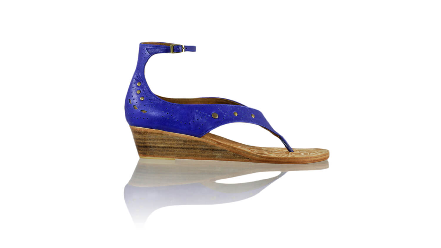 Leather-shoes-Miranda 35mm Wedge - Blue-sandals wedges-NILUH DJELANTIK-NILUH DJELANTIK