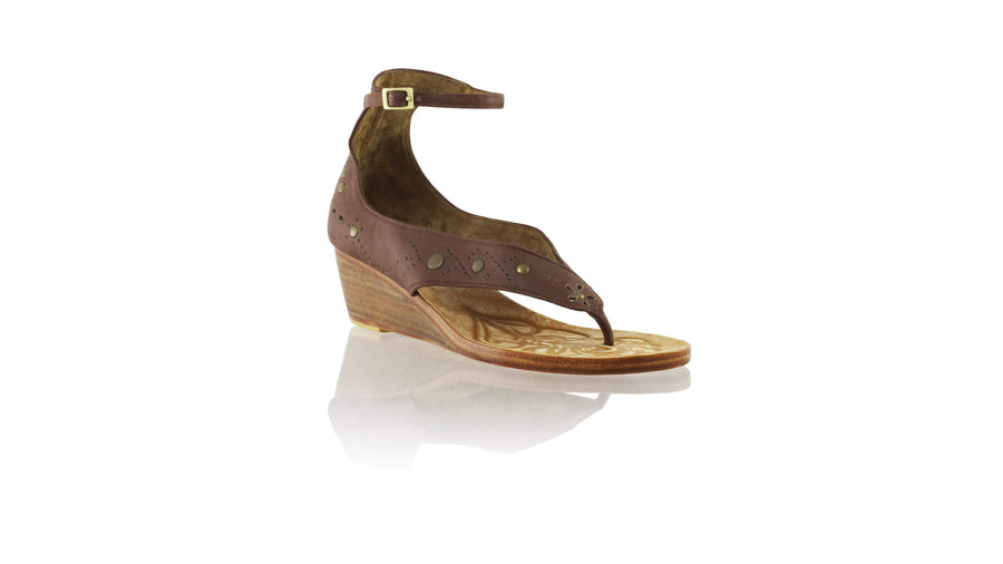 Leather-shoes-Miranda 35mm Wedge - Brown-sandals wedges-NILUH DJELANTIK-NILUH DJELANTIK