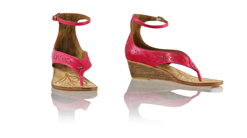 Leather-shoes-Miranda 35mm Wedge - Fuschia-sandals wedges-NILUH DJELANTIK-NILUH DJELANTIK