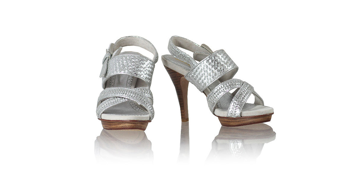 leather shoes Narita PF 115mm SH - Silver, sandals higheel , NILUH DJELANTIK - 1