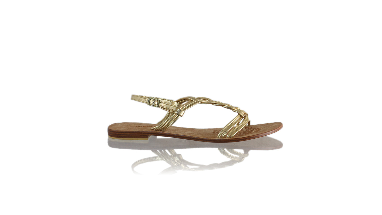 Leather-shoes-Nassera 20mm Flat - Gold-sandals flat-NILUH DJELANTIK-NILUH DJELANTIK