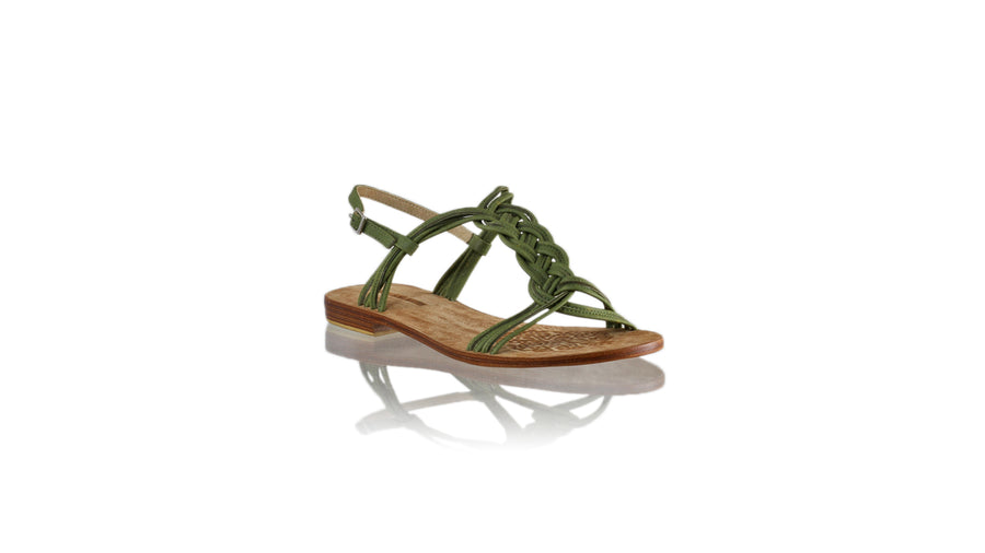 Leather-shoes-Nassera 20mm Flat - Light Olive-sandals flat-NILUH DJELANTIK-NILUH DJELANTIK