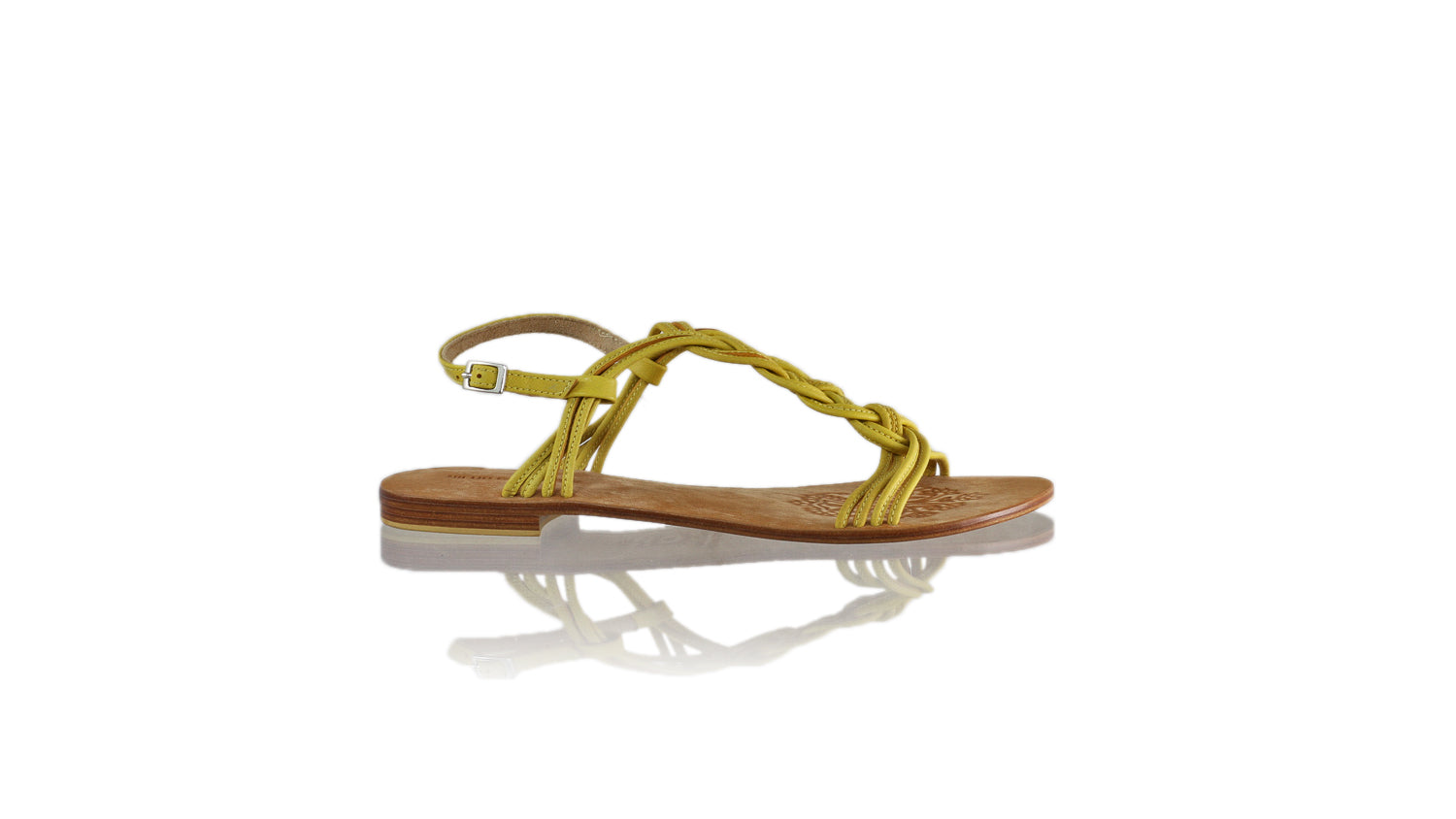 Leather-shoes-Nassera 20mm Flat - Yellow-sandals flat-NILUH DJELANTIK-NILUH DJELANTIK