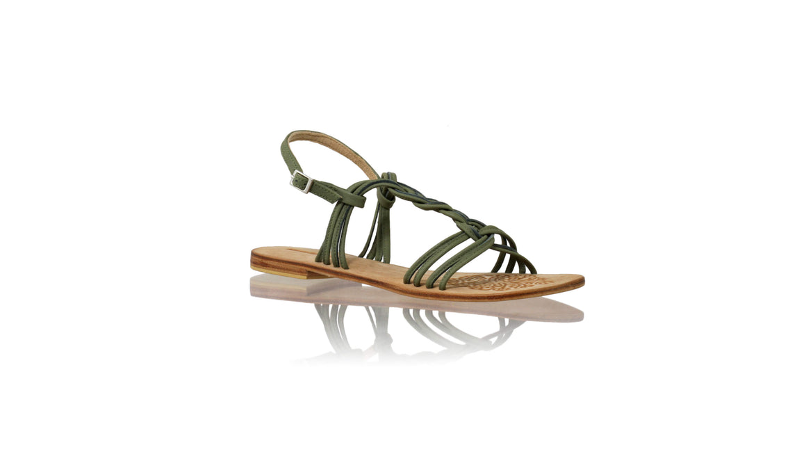 Leather-shoes-Nassera 20mm Flat - Olive-sandals flat-NILUH DJELANTIK-NILUH DJELANTIK