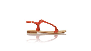 Leather-shoes-Nassera 20mm Flat - Orange-sandals flat-NILUH DJELANTIK-NILUH DJELANTIK