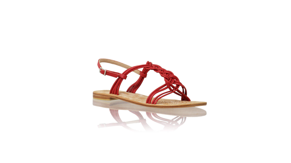 Leather-shoes-Nassera 20mm Flat - Red-sandals flat-NILUH DJELANTIK-NILUH DJELANTIK