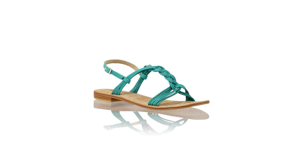 Leather-shoes-Nassera 20mm Flat - Emerald-sandals flat-NILUH DJELANTIK-NILUH DJELANTIK