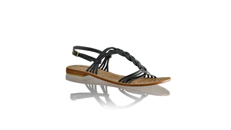 Leather-shoes-Nassera 20mm Flat - Grey-sandals flat-NILUH DJELANTIK-NILUH DJELANTIK