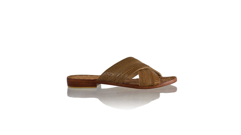 Leather-shoes-Nawi Without Strap 20mm Flat - Brown-sandals flat-NILUH DJELANTIK-NILUH DJELANTIK