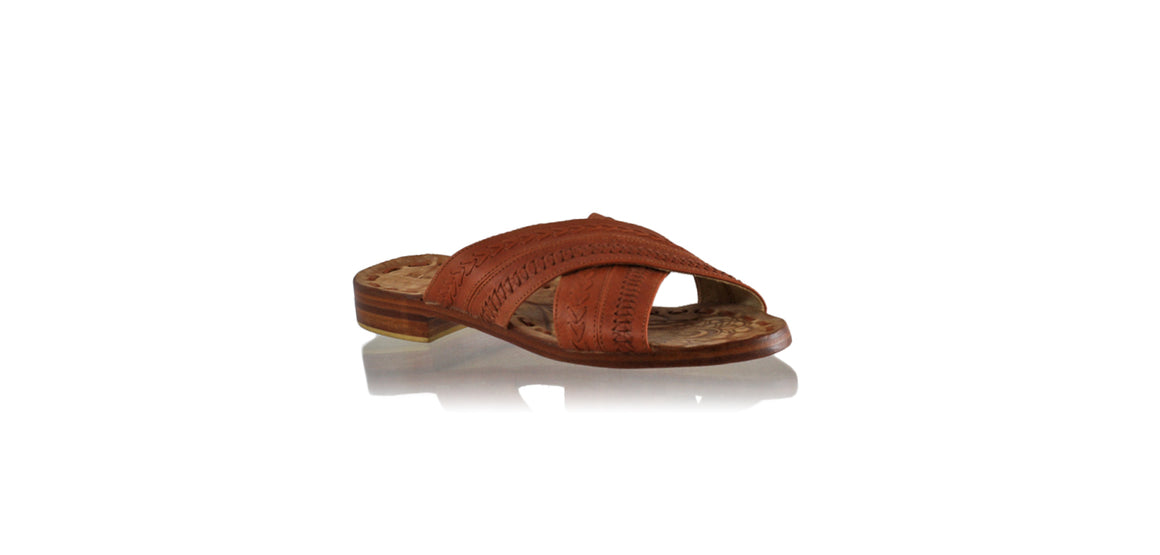 Leather-shoes-Nawi No Strap Flats 20mm - Burnt Orange-sandals flat-NILUH DJELANTIK-NILUH DJELANTIK