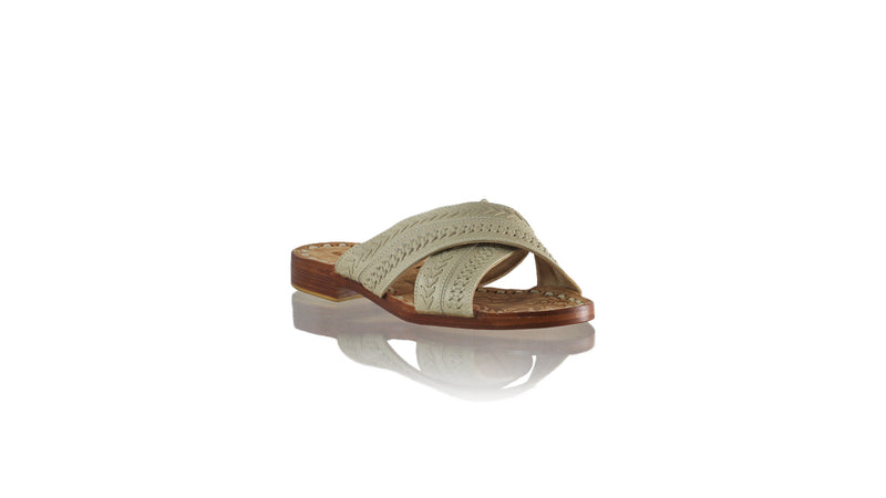 Leather-shoes-Nawi Without Strap 20mm Flat - Ivory-sandals flat-NILUH DJELANTIK-NILUH DJELANTIK